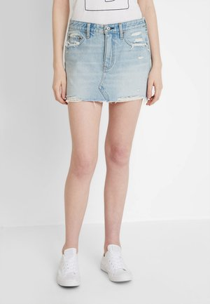 LOW RISE SKIRT - Jupe en jean - light wash