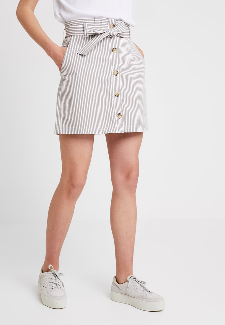 Abercrombie & Fitch - BELTED UTILITY - A-line skirt - grey