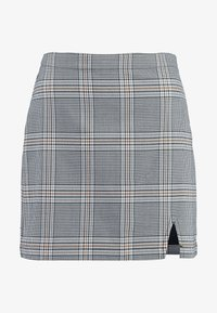 Abercrombie & Fitch - CHECK SKIRT - Spódnica mini - cream - 3