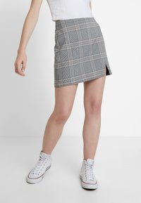 Abercrombie & Fitch - CHECK SKIRT - Spódnica mini - cream - 0