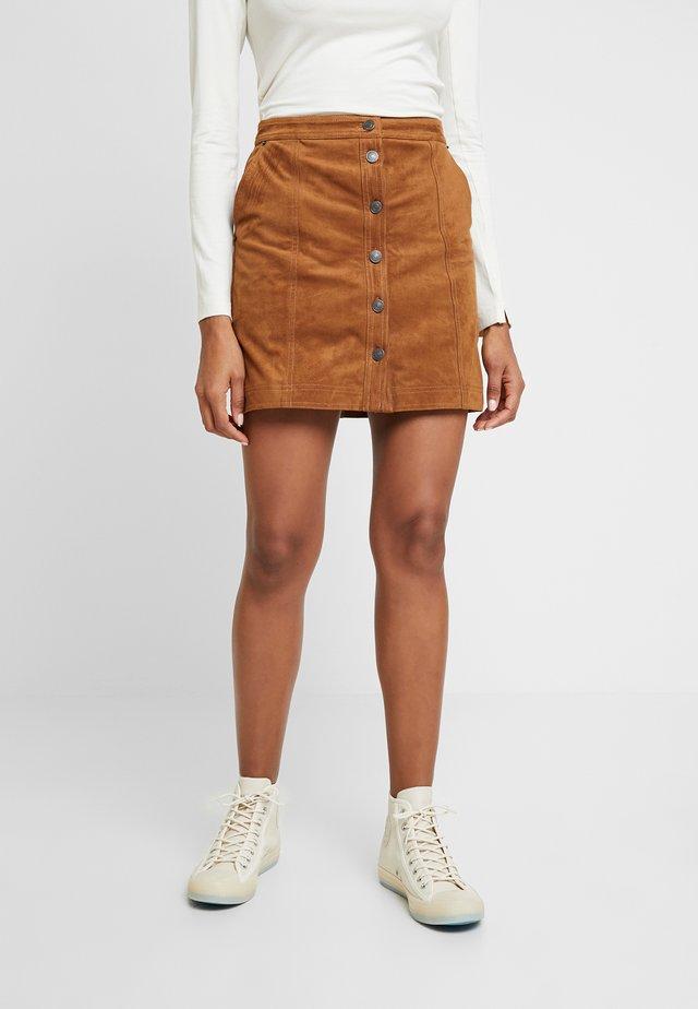 Mini skirt - tan