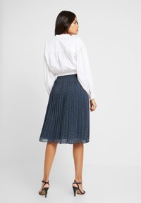 Abercrombie & Fitch - PLEATED MIDI SKIRT - A-lijn rok - navy - 2