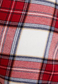 Abercrombie & Fitch - PLAID STRUCTURE MINI - A-line skjørt - red/white - 4