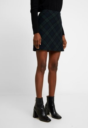 PLAID STRUCTURE MINI - A-line skirt - blackwatch