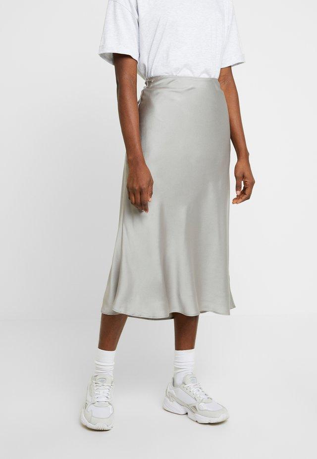 PLEATED MIDI SKIRT - A-line skirt - cream