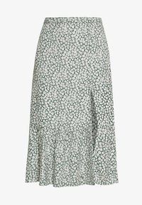 Abercrombie & Fitch - RUFFLE MIDI - Gonna a campana - green floral - 3