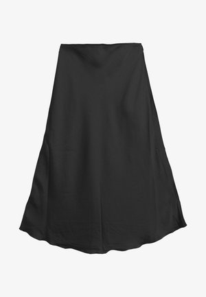 HIGH LOW MIDI SKIRT - Gonna a campana - black