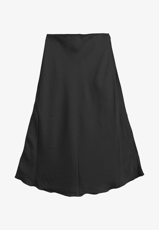 HIGH LOW MIDI SKIRT - A-line skirt - black