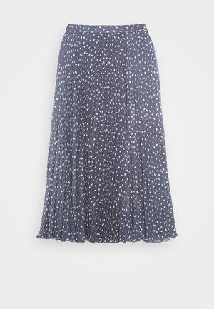 PLEATED MIDI - A-line skirt - blue