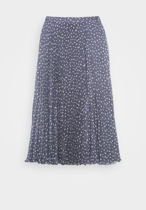 PLEATED MIDI - A-line skirt - blue