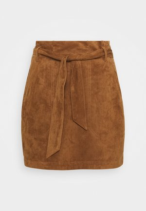 BELTED - A-line skirt - tan