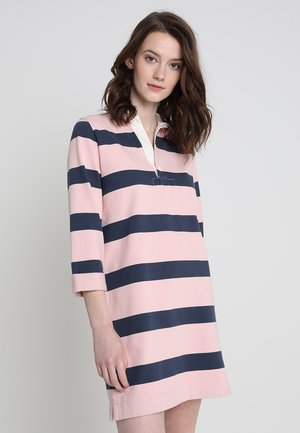 RUGBY POLO DRESS - Jerseykleid - blue/pink