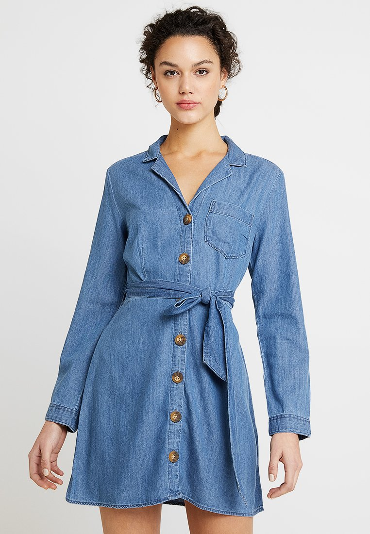 Abercrombie & Fitch - Blusenkleid - blue