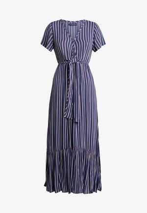 DEEP V NECK HARDWARE - Maxi šaty - navy