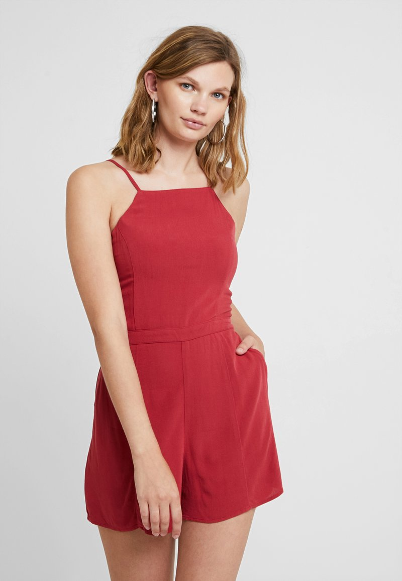 Abercrombie & Fitch - BUTTON DETAIL - Jumpsuit - red