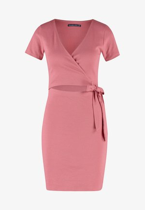 DETAIL DRESS - Robe pull - red