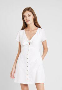 Abercrombie & Fitch - CAMP DRESS - Shirt dress - white solid - 0