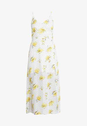 WRAP CAMI - Maxi dress - white/yellow