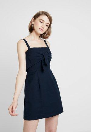 STRAIGHT NECK 90'S MINI DRESS - Denní šaty - navy