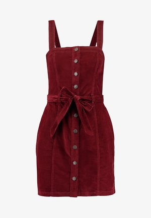 PINAFORE BUTTON DOWN DRESS - Vestido informal - red