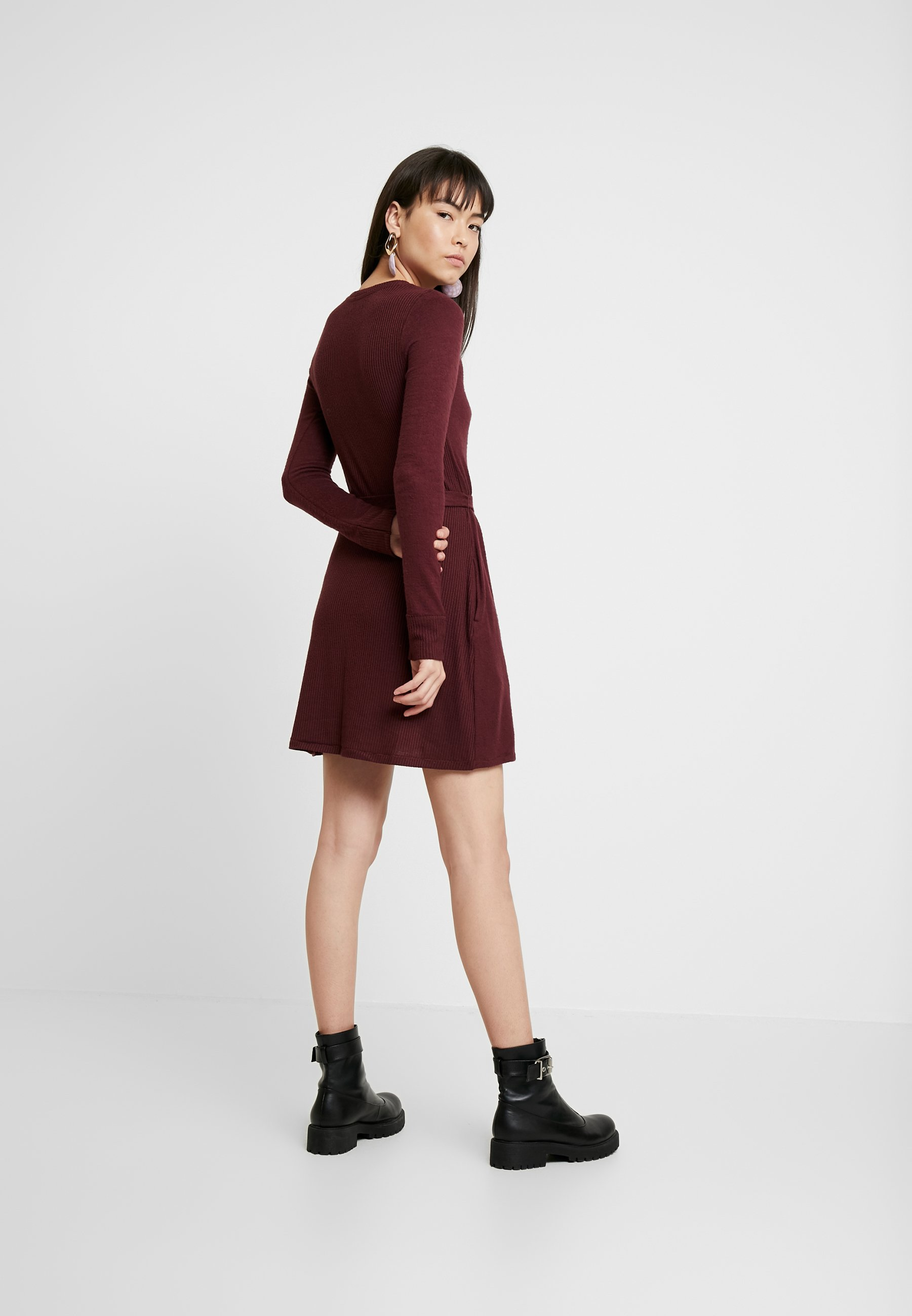 Abercrombie & Fitch Cozy Dress - Jumper Burg