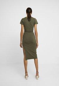 Abercrombie & Fitch - WRAP DRESS - Jersey dress - olive - 3
