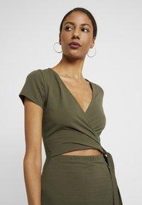 Abercrombie & Fitch - WRAP DRESS - Jersey dress - olive - 4