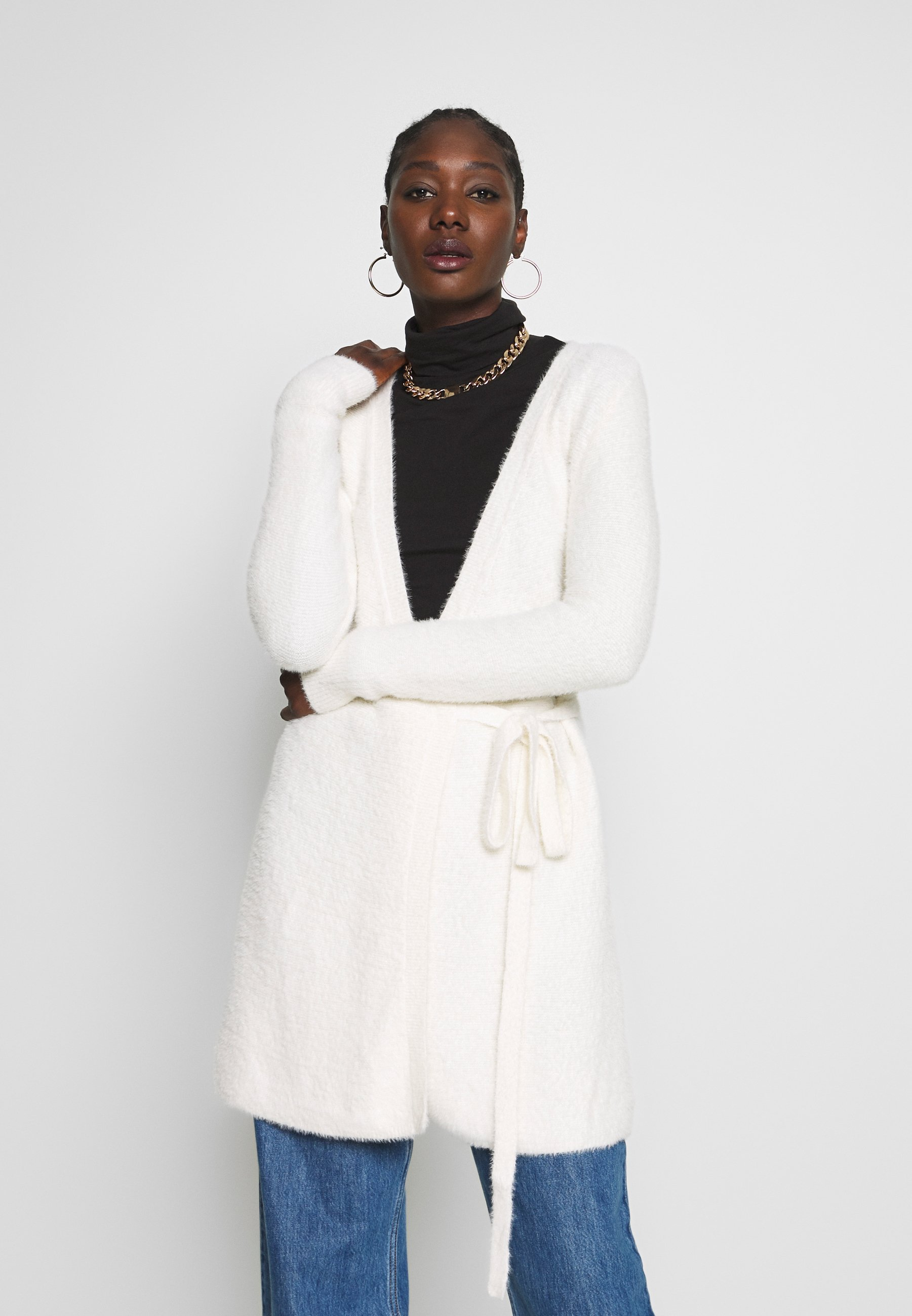 Abercrombie & Fitch SWEATER DRESS - Kardigan - cream