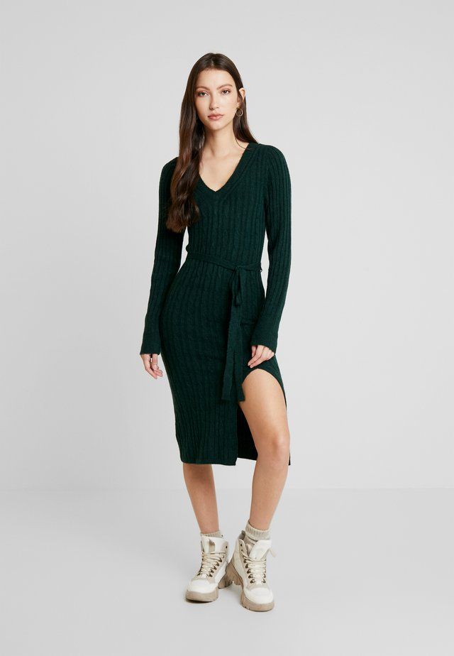 SIDE SLIT MIDI - Jumper dress - dark green