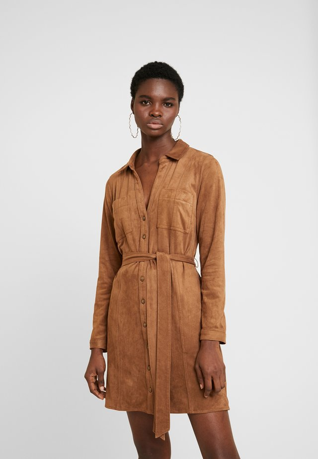 SHIRTDRESS - Day dress - tan