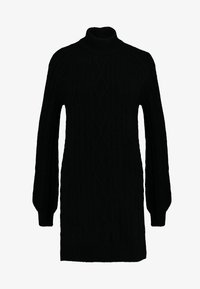 Abercrombie & Fitch - MOCKNECK CABLE - Robe pull - black - 5