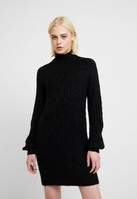 Abercrombie & Fitch - MOCKNECK CABLE - Robe pull - black - 0