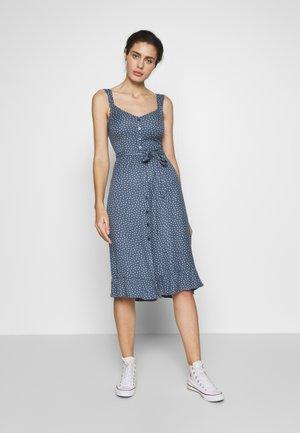RUFFLE MIDI - Denní šaty - blue