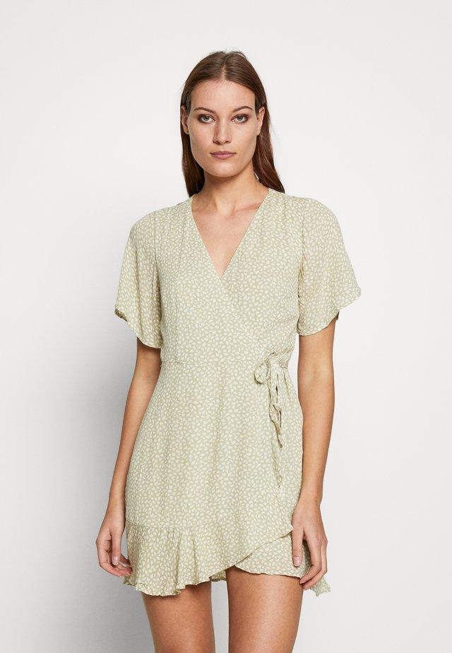 Korte jurk - green dot