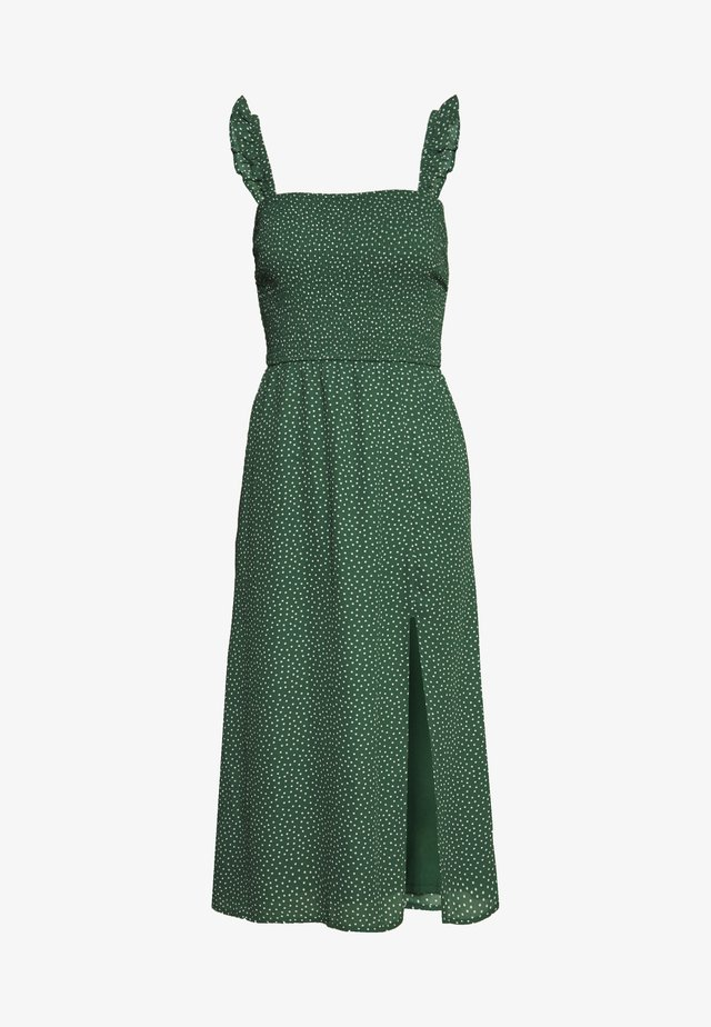 SMOCKED BODICE MIDI - Day dress - green