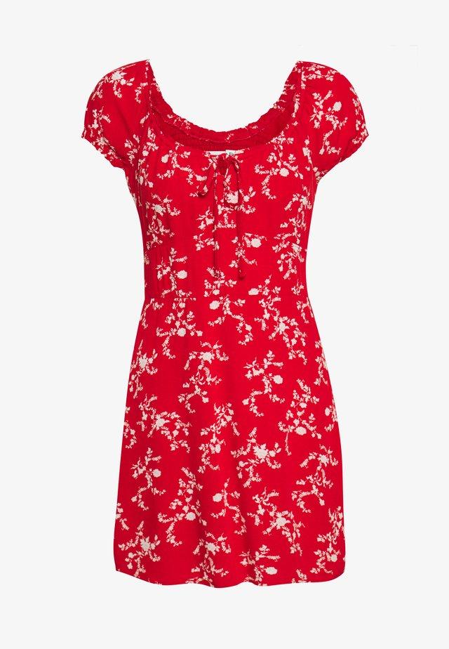 RUCHED BUST MINI - Korte jurk - red