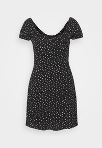 Abercrombie & Fitch - RUCHED BUST MINI - Vestito estivo - black - 4