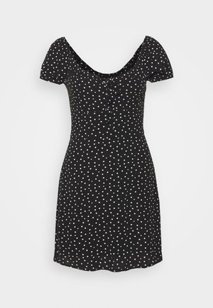 RUCHED BUST MINI - Day dress - black