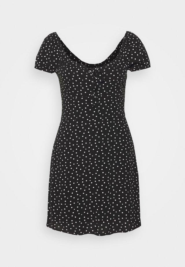 RUCHED BUST MINI - Korte jurk - black