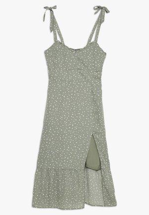 TIE SHOULDER DRESS  - Korte jurk - green