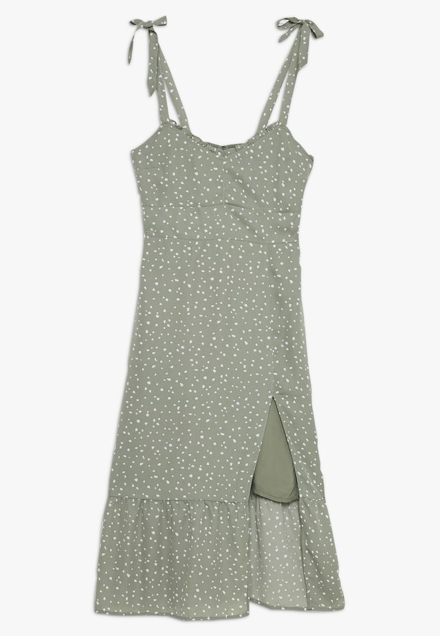 TIE SHOULDER DRESS  - Robe d'été - green