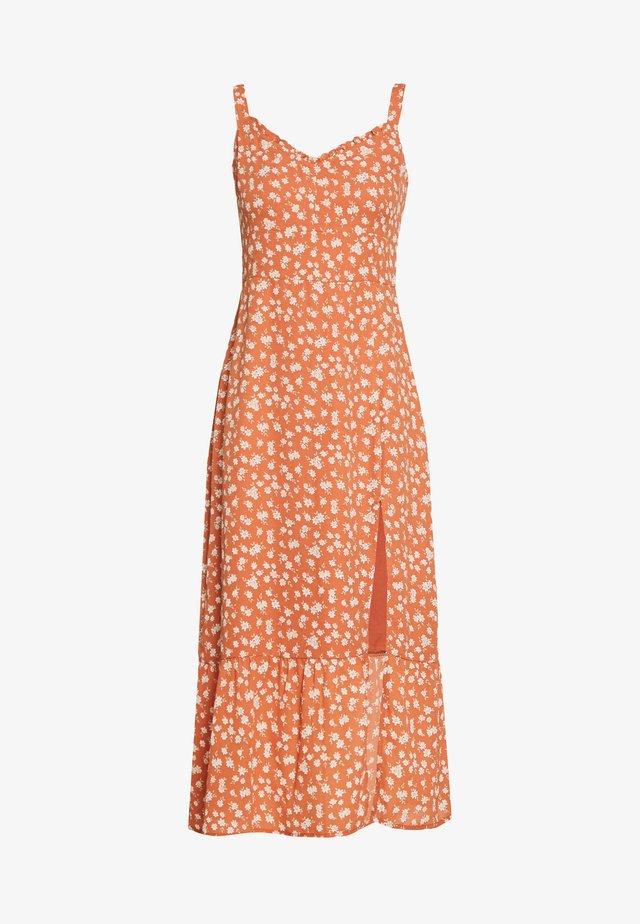 TIE SHOULDER DRESS  - Day dress - auburn