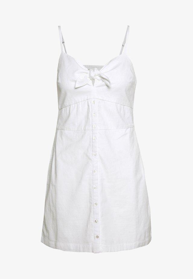 BARE BUTTON THRU MINI - Sukienka letnia - white