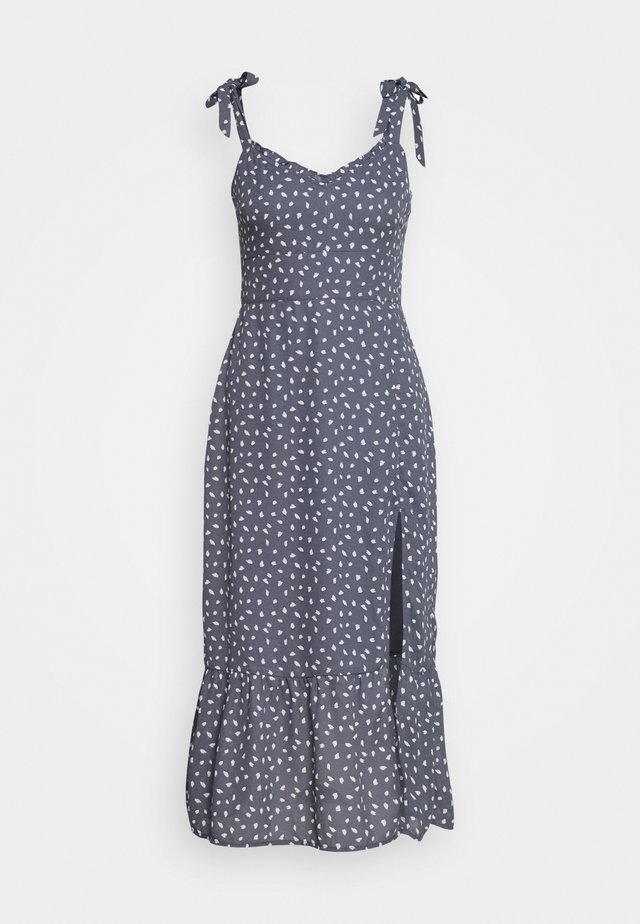 TIE SHOULDER DRESS - Day dress - blue/white