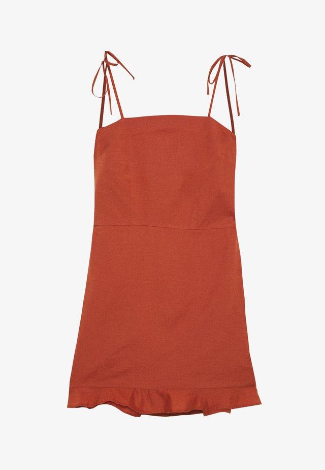 BARE BUTTON THRU MINI - Day dress - auburn
