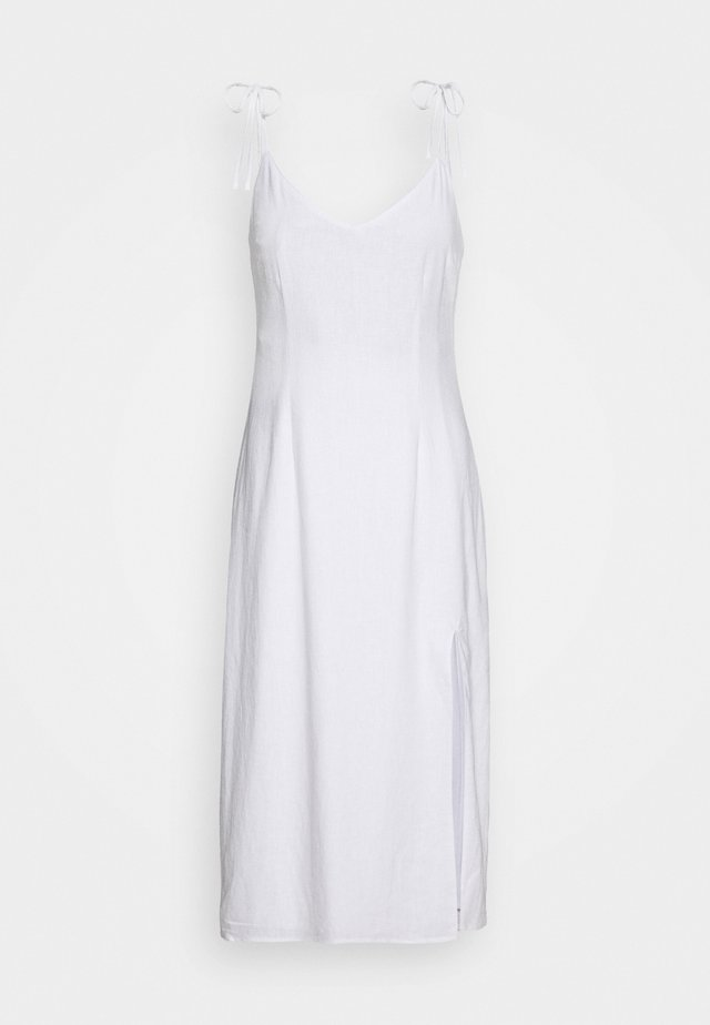 SIDE SLIT MIDI - Day dress - white