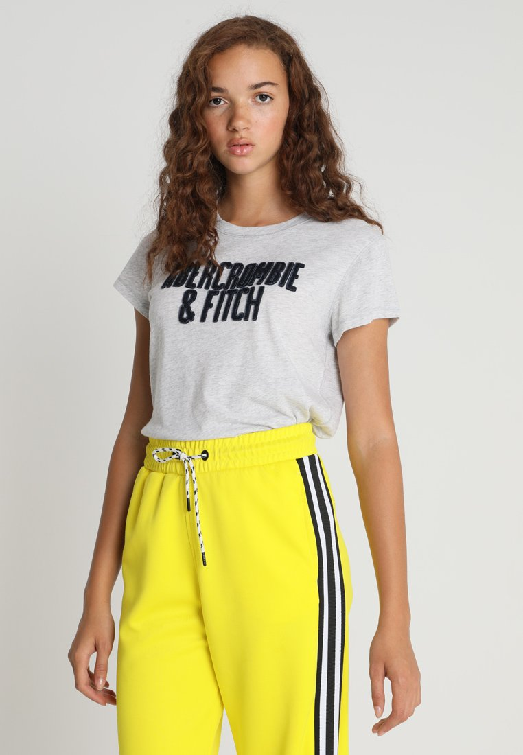 Abercrombie & Fitch - NEUTRAL LONG LIFE LOGO TEE - T-Shirt print - white