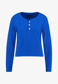 Abercrombie & Fitch - WAFFLE HENLEY - Long sleeved top - dazzling blue - 4