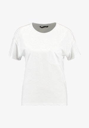 SCOOP NECK TEE - T-shirts - white