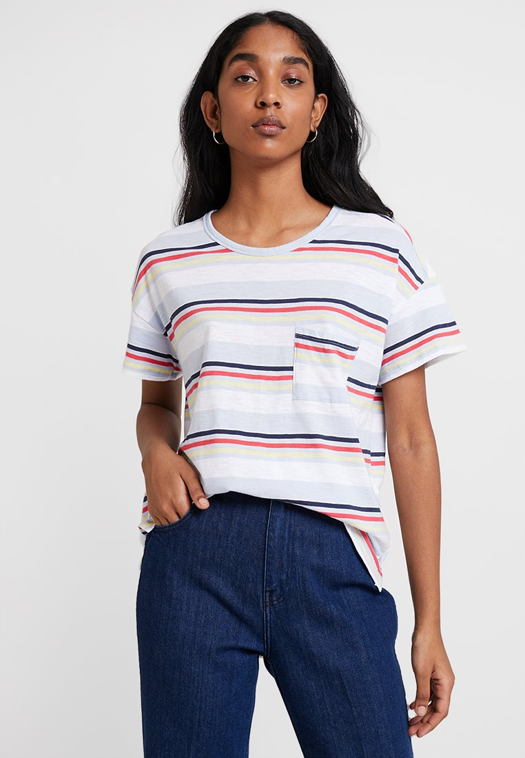 Abercrombie & Fitch - SCOOP NECK TEE - T-Shirt print - stripe